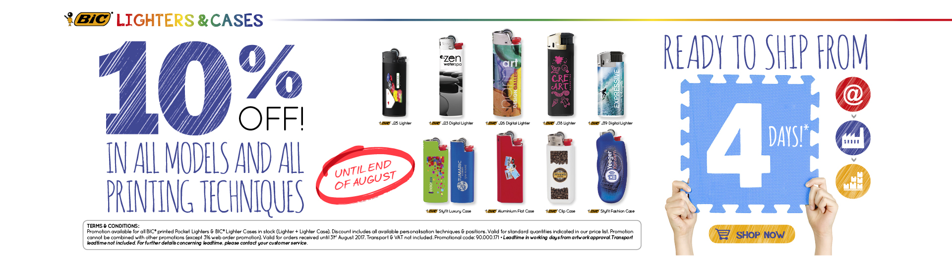 10% promo lighters