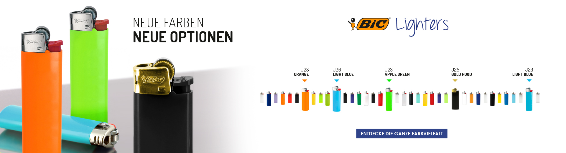 NEW COLOUR RANGE BIC® LIGHTERS
