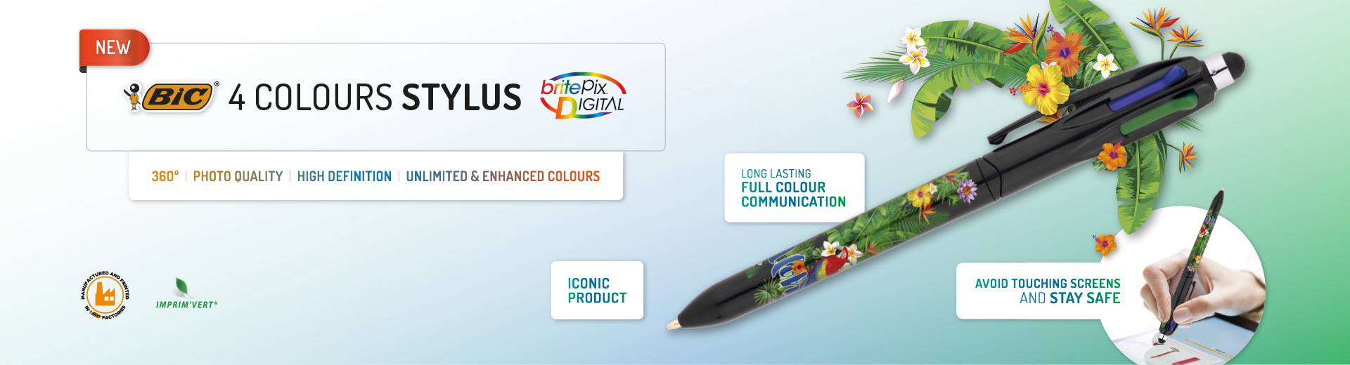 BIC® 4 Colours Stylus Digital